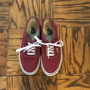 Red low top vans amazing condition